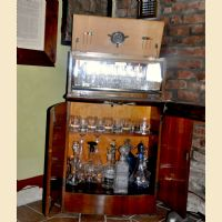 Mobile bar inglese anni '40