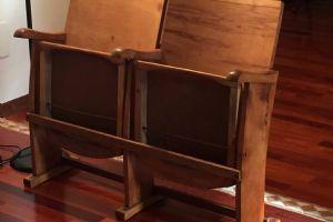 Sedia da cinema da 2 posti in legno