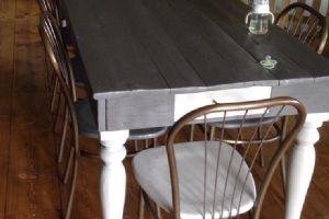 Tavolo su misura con assi ponteggio