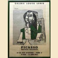Locandina PICASSO Galerie Louise Leiris - Paris 1953